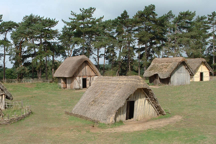 West Stow Pods Anglo-Saxon Village